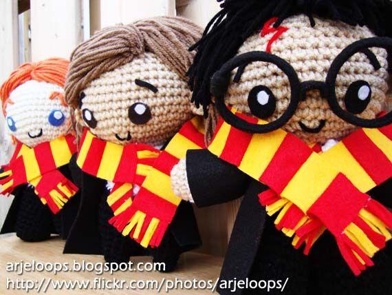 Patrones Amigurumi Harry Potter : A pedido!! Tres patrones amigurumi gratis de Harry Potter ...
