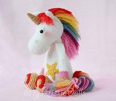 Patrón de crochet / Amigurumi Muñeca Unicornio Candy y Mint | Etsy | 210x240