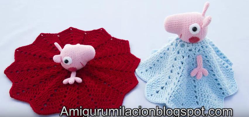 Patrón AMIGURIMI Gratis de Peppa Pig | 402x851