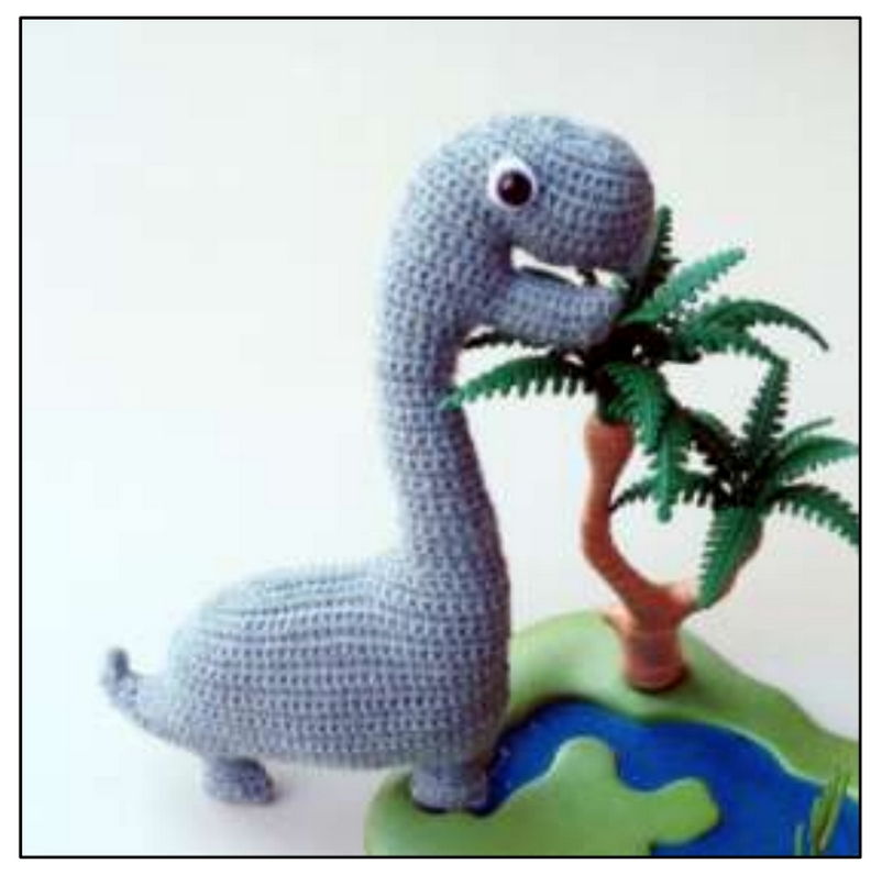 CROCHET PATTERN in English - Tim the Lovely Dinosaur - 9