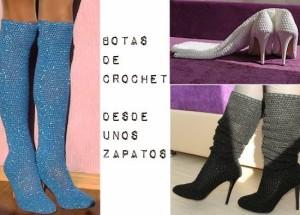como+transformar+zapatos+en+botas+de+croche+tutorial