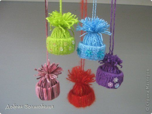 Creative-Ideas-DIY-Cute-Yarn-Winter-Hat-Ornaments-13