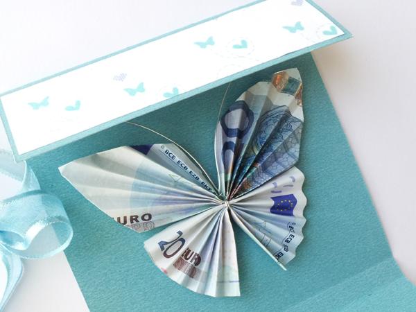 1 tarjeta regalar dinero mariposa