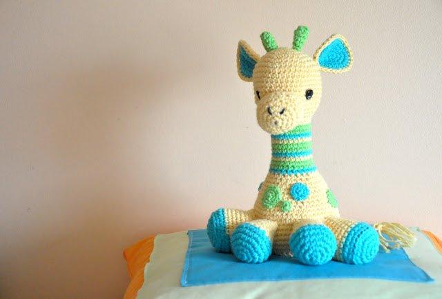Bichus Amigurumis: Sonajero Jirafa Amigurumi Crochet | 434x640