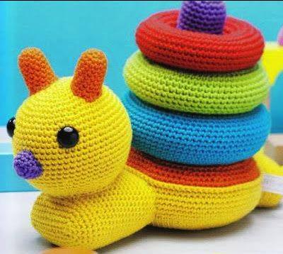 Amigurumi Caracol : Patron gratis amigurumi de juguete para bebe caracol ...