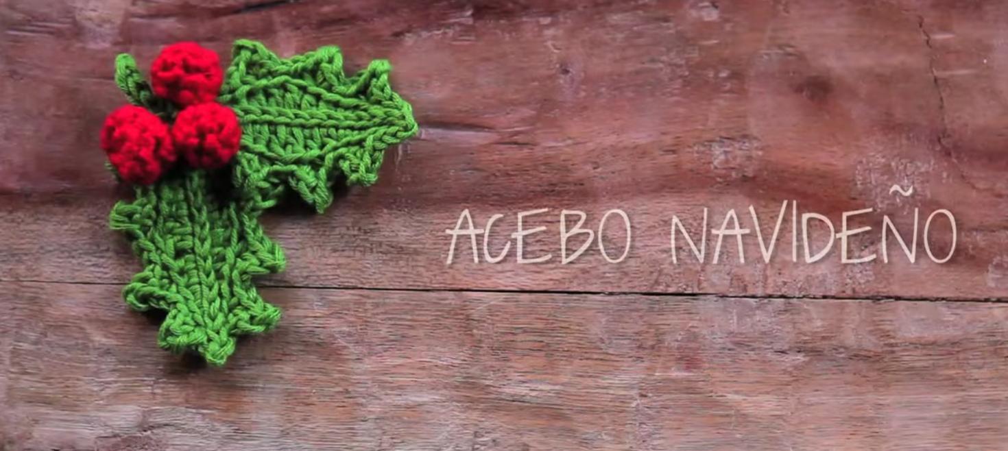 Patrón gratis ganchillo de hojas de acebo con frutos – amigurumis y más