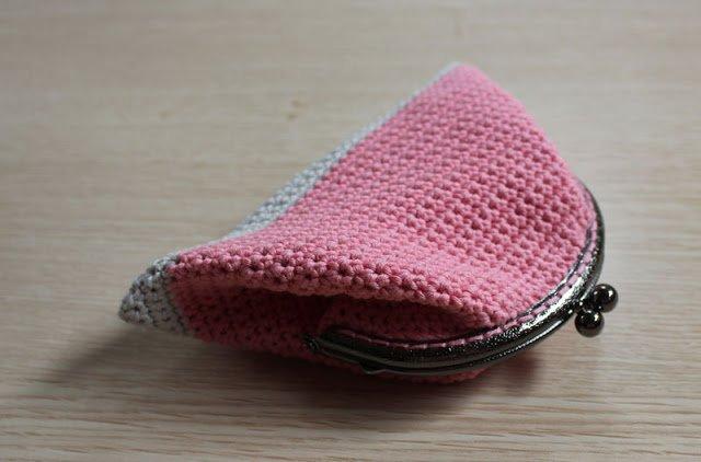 Patron Gratis Ganchillo De Monedero De Boquilla Con Forro - Monedero-crochet-patron